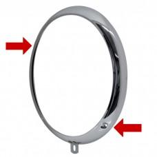 VW Beetle or Kombi 1955 to 1967 Headlight Ring  Diagonal Screws