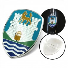 Bonnet Wolfsburg Crest, blue background, 1951 to 1959 Beetle , includes base plate