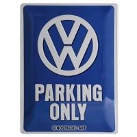 Retro Tin Sign Volkswagen VW Parking Only