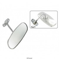 VW Kombi 1955 to 1967 Interior Rear View Mirror finished in Chrome