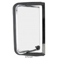 Bay Window Kombi Vent window complete with chromed stainless steel frame rear Right
