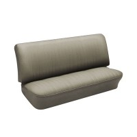 VW Front Bench Seat Upholstery, Smooth Vinyl Grey Kombi 1950 to 1962