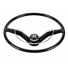 VW Beetle Karmann Ghia and Type 3 Steering Wheel in Black