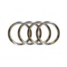 """VW Stainless Steel Wheel Trim Rings, 14"""""""
