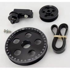 Serpentine Belt Pulley System, Black Anodised For Type 1 VW