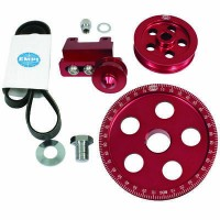Serpentine Belt Pulley System, Red Anodised For Type 1 VW