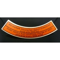 Air Cleaner Service sticker (Early Style)