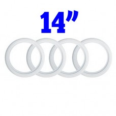 """Whitewall Tyre Trims 14"""" (Set of 4) 1-7/8th"""" for VW Kombi 1964 to 1979"""