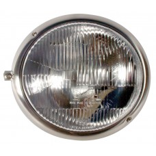 VW Headlight Assembly Left side with Stainless Steel Rim for Right Hand Drive Kombi 1950 to 1967