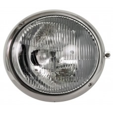 VW Headlight Assembly Right side with Stainless Steel Rim for Right Hand Drive Kombi 1950 to 1967