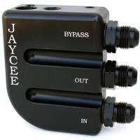 Jay Cee Bypass Oil Filter Mount (Black)