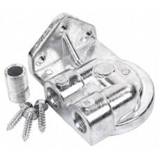 Spin on oil filter mount ports left