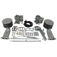 EMPI 40K Kadron Style Dual Carb Kits, Beetle Kombi and Karmann Ghia (Twin Port)