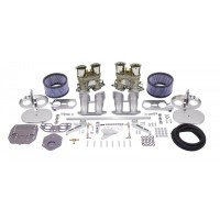 Dual EMPI 40 HPMX Kit with chrome Air Cleaners for VW Type 4 Kombi Engines 1700cc, 1800cc and 2000cc