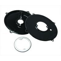 VW Alternator/Generator Backing Plate Tin, Black, 3 Pieces