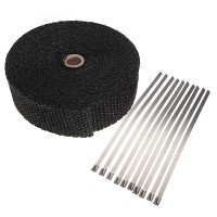 Fireproof Cloth Roll Black with stainless steel ties
