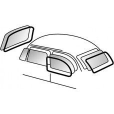 Beetle 1958 to 1967 Window seal kit with trim groove