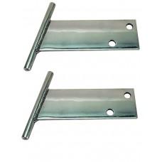 Polished Aluminium T bars Beetle 1968 to 1973