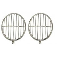 VW Headlamp Guards Polished Stainless Steel