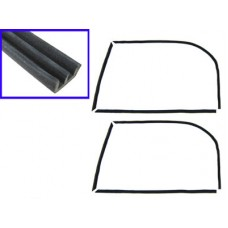 Felt Set for Cab Door Glass (Both Doors) for VW Kombi 1955 to 1967
