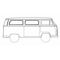 VW Kombi Middle and Rear Side Window Seal 1968 to 1979 (Fixed Window)