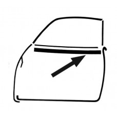 Outer Window Scraper for VW Karmann Ghia 1961 to 1971 models
