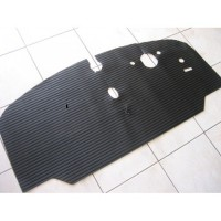 "VW Kombi Rubber Cab floor mat 1968 to 1972, ""Low Light"" models Right Hand Drive"