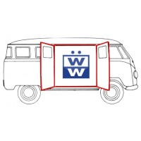 VW Kombi Side cargo door seals (9 pieces) up to 1967