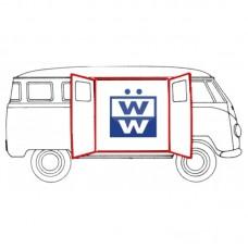 VW Kombi Side cargo door seals (9 pieces) up to 1967