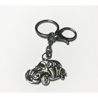 VW Beetle Key Ring (Silver in Colour)