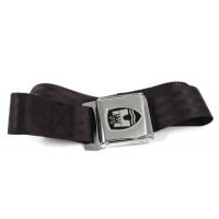 Quality Static Two-point seat belt with crest logo and chrome buckle
