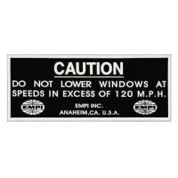 """EMPI Sticker """"Do Not Lower Windows"""""""