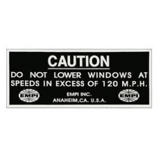 "EMPI Sticker ""Do Not Lower Windows"""