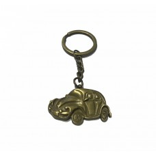 VW Beetle Key Ring (Brass in Colour)
