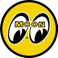 Moon Mooneyes 130mm Original Yellow Eyes Logo Decal Sticker