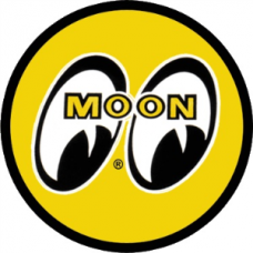 Moon Mooneyes 75mm Original Yellow Eyes Logo Decal Sticker
