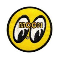 Moon Mooneyes 90mm Original Yellow Eyes Logo Sew on Patch