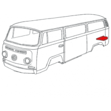 Left hand rear tray section for VW Kombi's 1968 to 1971