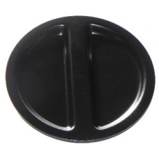 Quality metal master cylinder reservoir cover in black VW Kombi 1955 to 1967