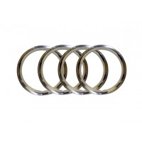VW Stainless Steel Wheel Trim Rings, 15""