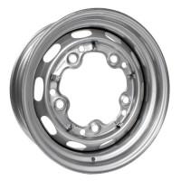 Silver Steel Wheel 4.5J x 15'' with 5 X 205 Stud Pattern (Porsche Slot Style)