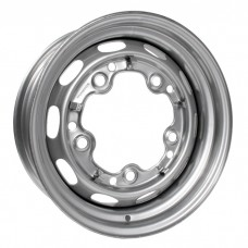 Silver Steel Wheel 4.5J x 15'' with 5 X 205 Stud Pattern (Porsche Slot Style)